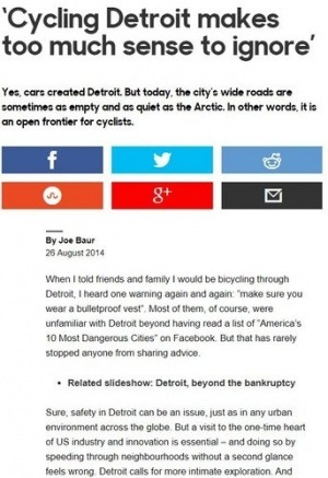 Cycling Detroit makes too much sense to ignore