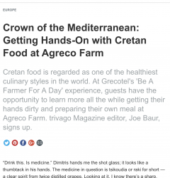 Crown of the Mediterranean: Getting Hands-On with Cretan Food at Agreco Farm