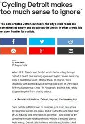 Cycling Detroit Makes Too Much Sense To Ignore BBC Travel Joe Baur