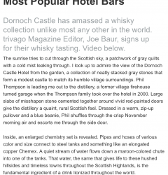 Dornoch Castle: A Whisky Tasting at One of the World's Most Popular Hotel Bars