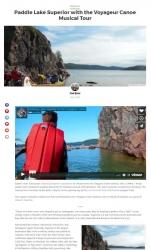 Paddling Lake Superior with the Voyageur Canoe Musical Tour Matador Network Joe Baur