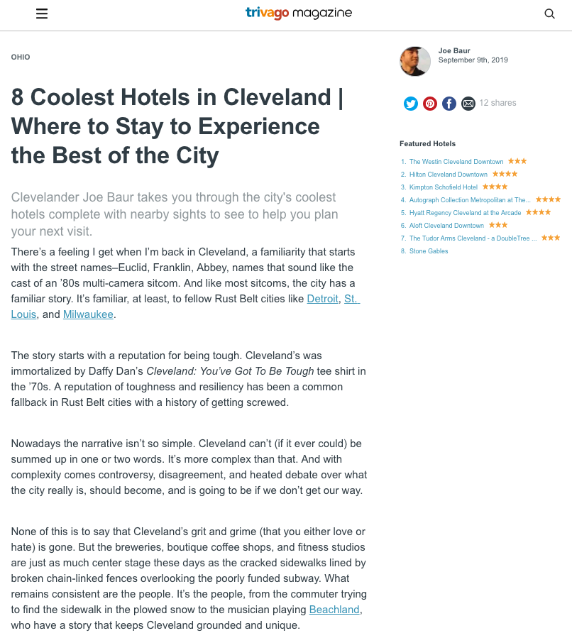 8 Coolest Hotels in Cleveland | Where to Stay to Experience the Best of the City